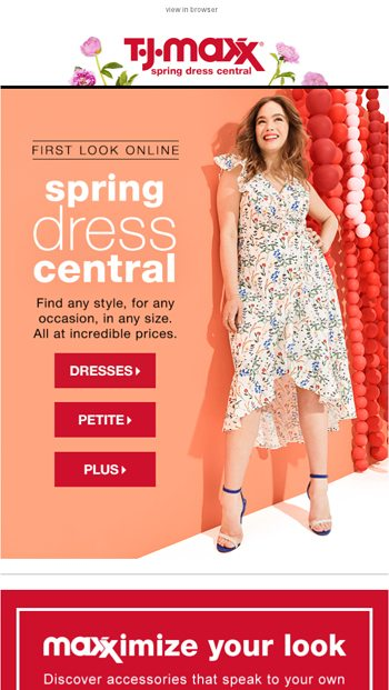 daf95f8aad83 Spring dresses are here!👗 - T.J.Maxx Email Archive