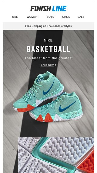 buy online ff8fe 424f2 Kyrie 4. PG2. Air More Money. And then some. - Finish Line ...