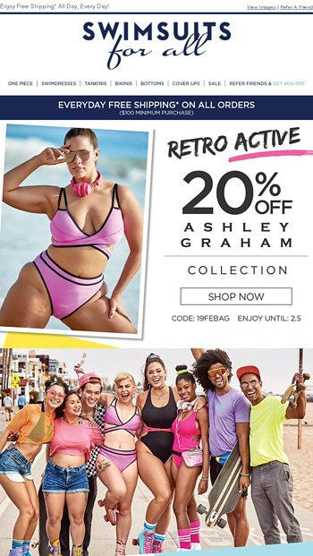 de760436ed4 Now Available: NEW Ashley Graham x Swimsuits For All - Swimsuits For All  Email Archive