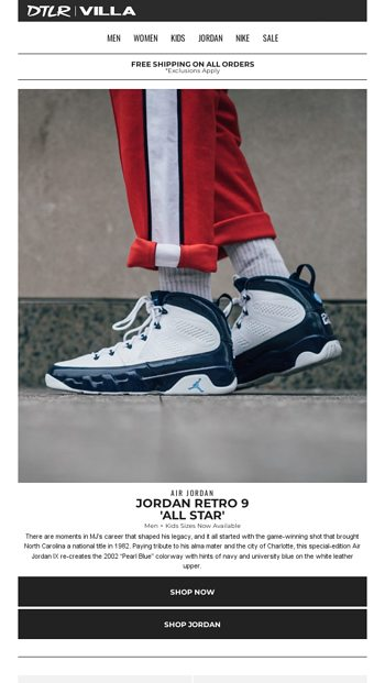 the latest 676c1 99f04 Jordan 9  University Blue  🔵 Now Available - DTLR Email Archive