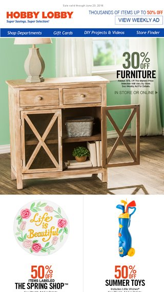 Farmhouse Furniture Sale Hobby Lobby Email Archive