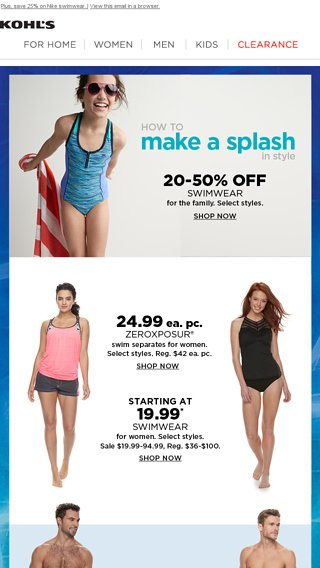 7ea0b927934 Suit up for fun in the sun! - Kohl's Email Archive