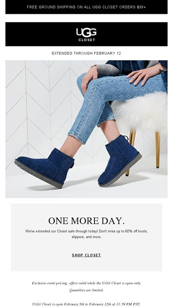 9c7f297ad Our Closet sale has been extended! - UGG Email Archive