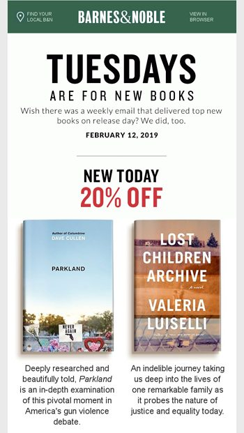 barnes & noble new releases