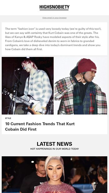 a11755102c 10 fashion trends that Kurt Cobain did first. - Highsnobiety Email Archive