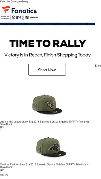 823dc2124bb Rally Before It s Too Late - Fanatics.com Email Archive