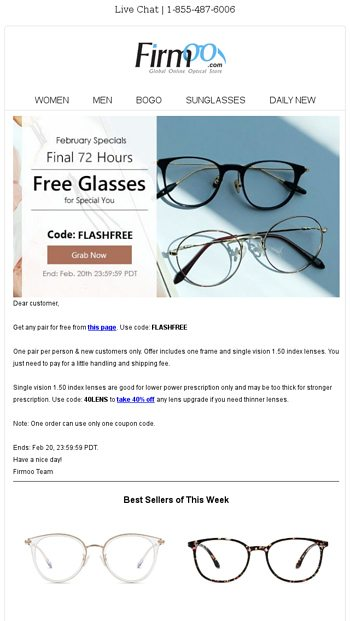 33eaeb0cc6 Free Glasses for Mother s Day