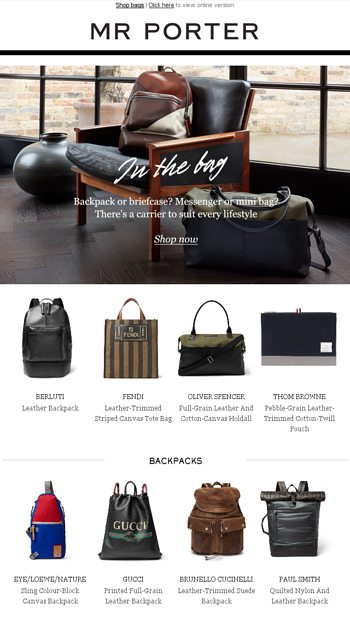 80ae59572b Bags of style - MR PORTER Email Archive