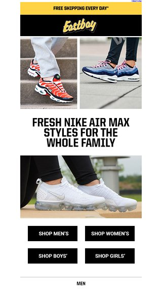 san francisco 77ebb eef21 Air Max, Air Max, and MORE Air Max! - Eastbay Email Archive