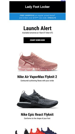 d7806ce00f67 New releases from Nike and PUMA – available 7 12 - Lady Foot Locker Email  Archive