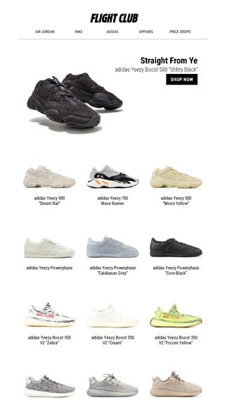 938cb8edad282 Straight From Ye  the latest from adidas x Yeezy feat. the Yeezy Boost 500  Utitlity Black and Yeezy - Flight Club Email Archive