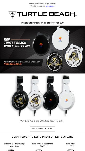 All-New Speaker Plate Designs Are Here! - Turtle Beach Email Archive