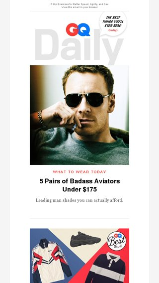 bd58d3a994 5 Pairs of Badass Aviators Under  175 - GQ Magazine Email Archive