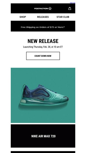 1a2734aabf Nike Air Max 720 - Available Tomorrow! - Footaction Email Archive