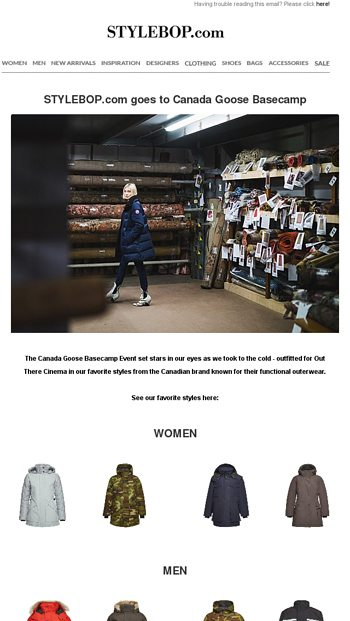 c70c5d9db51 STYLEBOP.com goes to Canada Goose Basecamp - STYLEBOP Email Archive