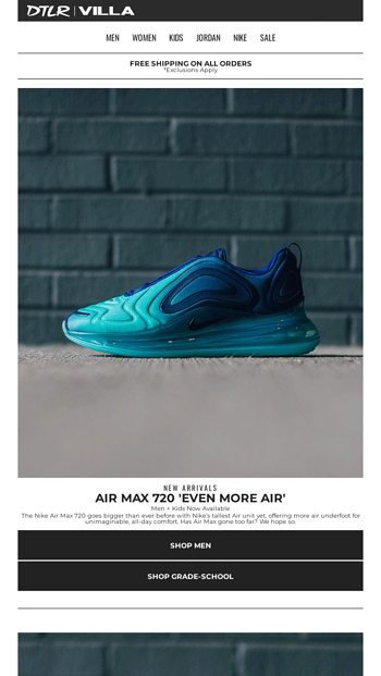 premium selection 08f29 2ba4a EVEN MORE AIR   Nike Air Max 720 Now Available - DTLR Email Archive