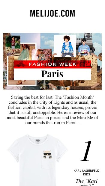 c58c92bd2d18 Paris Fashion Week  discover the SS19 Mini Me lines of our French ...