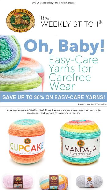 Just In This Yarn Is Off The Hook Lion Brand Yarn Email Archive