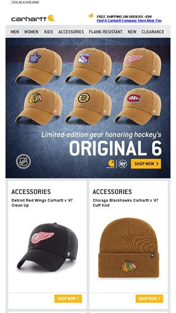 b1a9972d2303b See the hats built to honor hockey s Original 6 - Carhartt.com Email Archive
