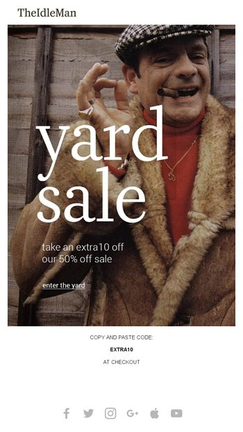 7d22bfd14bfe The Yard Sale is back with over 50% off everything