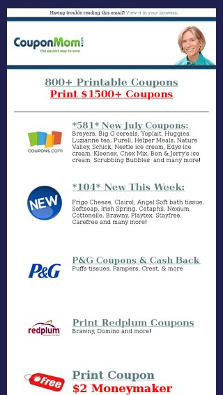 Just Updated New Free Deals Here Are The Coupons Coupon Mom Email Archive
