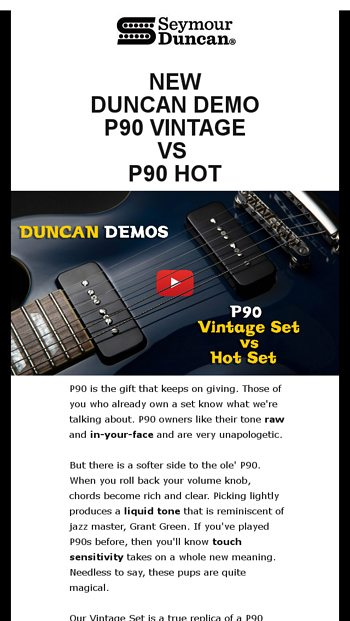 Seymour Duncan Email Newsletters