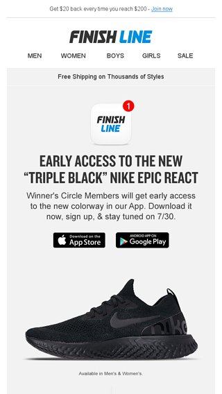 5478b9f79ebca Early access to the Nike Epic React Flyknit
