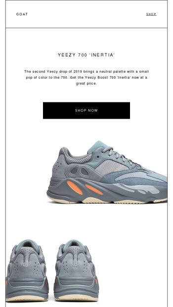 new concept ef114 d68cf Yeezy Boost 700 lsquoInertiarsquo is available now at great prices