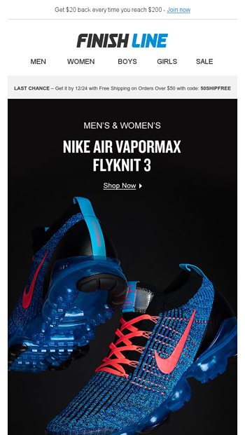timeless design 506ea c86b1 Nike Air Vapormax Flyknit 3 just dropped. - Finish Line ...