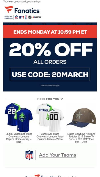 0d08eb2a5bc55 Take 20% off all the Latest Arrivals for March Madness