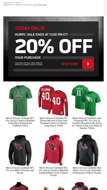 7a5e68299486 TODAY ONLY - 20% Off Cardinals Gear