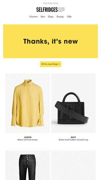 5ce7c2c189a You deserve nice things - Selfridges   Co Email Archive