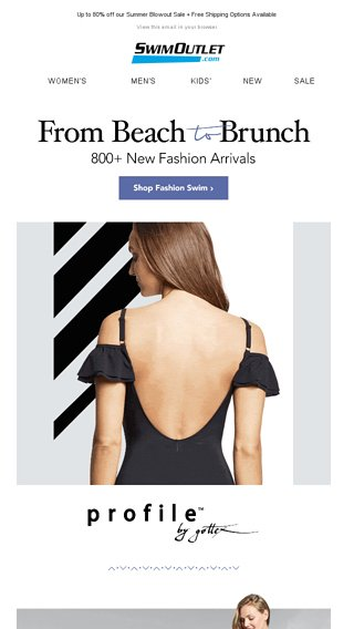 fb6315fcabea1 [Top Brands] 800+ New Fashion Arrivals + Cover-ups + Sandals - SwimOutlet  Email Archive
