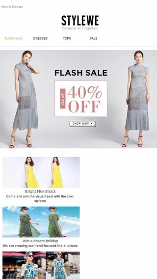 3d429390c12 These Dresses Are That Hot! FLASH SALE Up To 40% OFF - StyleWe Email Archive