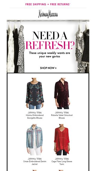 3ce3e71ad5331c Attn: You've snagged THIS from Johnny Was + more - Neiman Marcus Email  Archive