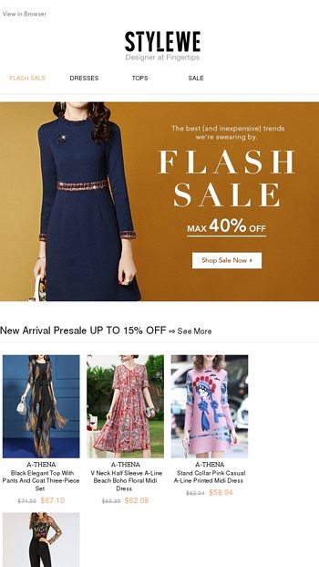 39918bf2cb Down to 11.2: Trends We Swear by Are on Flash Sale - StyleWe Email Archive