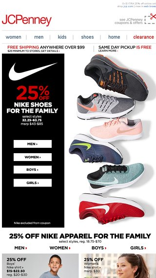Nike 25 Apparel Crew Off Sapatos The For New Email Jcpenney xCSpv