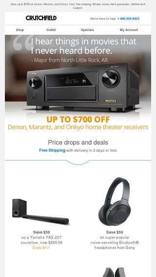 Home theater receiver sale - Crutchfield Email Archive