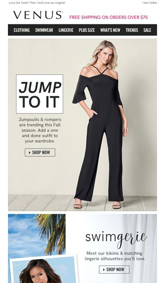 Jump On These New Arrivals Venus Email Archive
