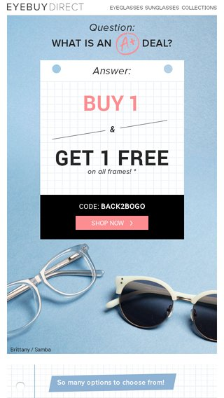840483b1eac Don t Miss Out on This BOGO - EyeBuyDirect Email Archive