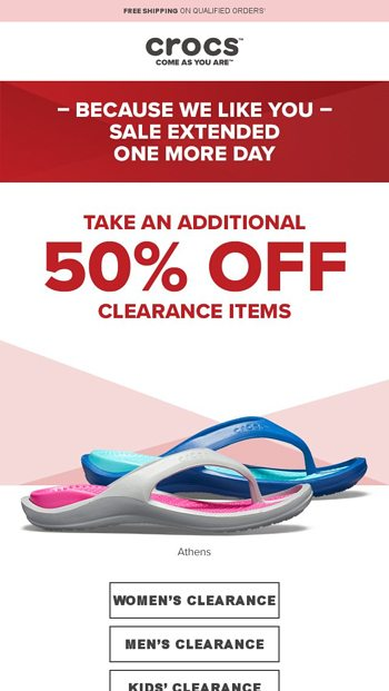 1867ea756 Final hours extra 50 off clearance styles is almost over. Mar 15. OK OK one  more day