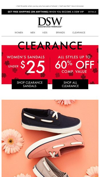 Sperry does spring. - DSW Email Archive