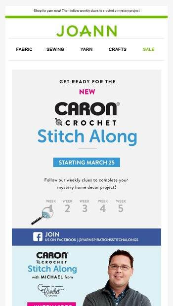 Get Ready for It! The Caron Crochet Stitch Along starts 3/25