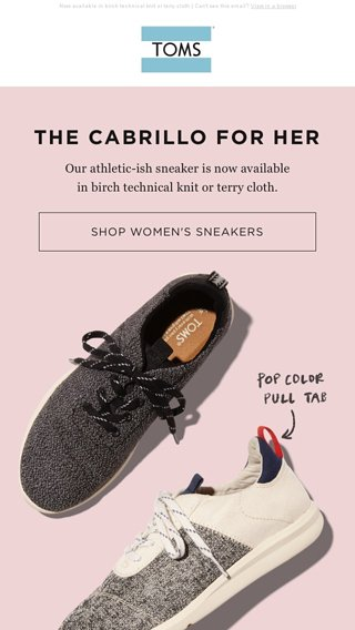 👟 NEW FALL SNEAKERS 👟 - TOMS Email Archive