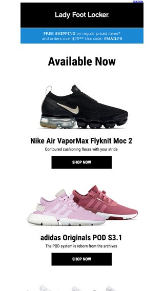 56afb0d4cea New releases from Nike and adidas Originals – available now - Lady Foot  Locker Email Archive