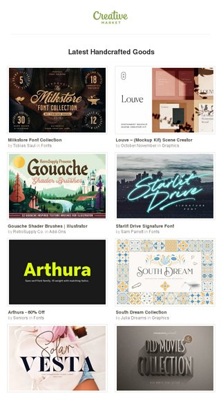 Fresh Design Goods of the Week ☀️ - Creative Market Email