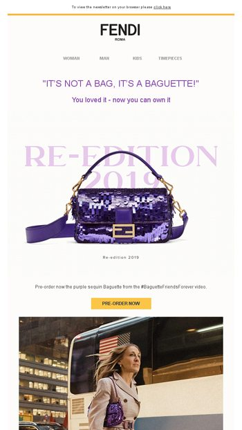 57b79d557a14 The new Peekaboo X-Lite for Man and Woman - Fendi Email Archive