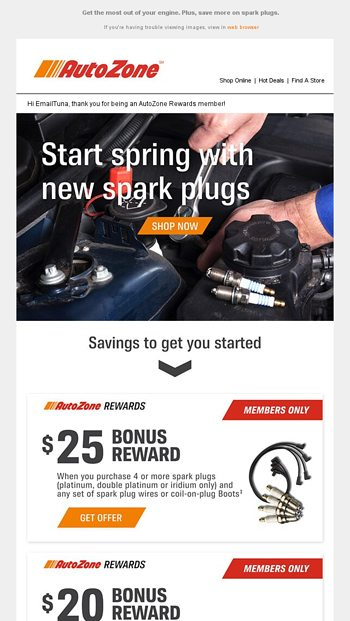AutoZone Email Newsletters