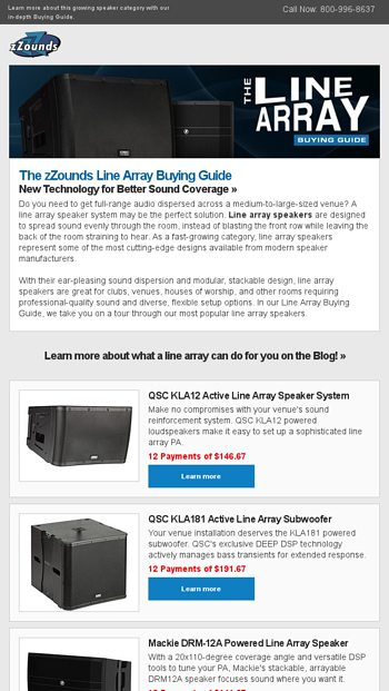New! zZounds' Line Array Buying Guide - zZounds News Email Archive