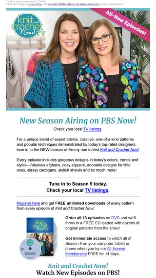 New Knit And Crochet Now Watch Season 9 On Pbs Annies Craft